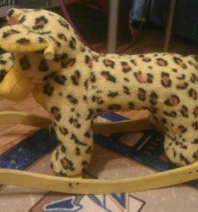 Качалка лошадка леопард