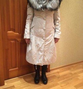Пальто куртка утепленное 46 размер зимнее