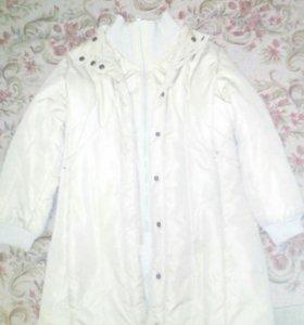Пальто на девочку 128