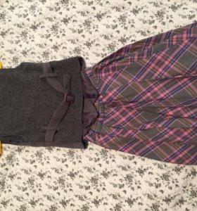 Школьная форма юбка и жилет