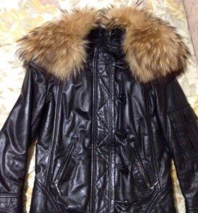Женская кожаная куртка 44 размер