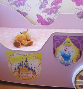 Детская кроватка карета+ матрас