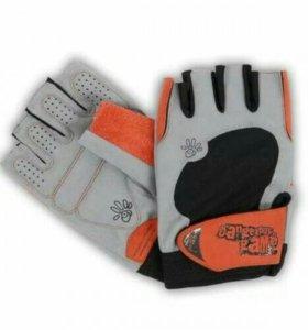 Новые кожаные перчатки для тренажёрного зала