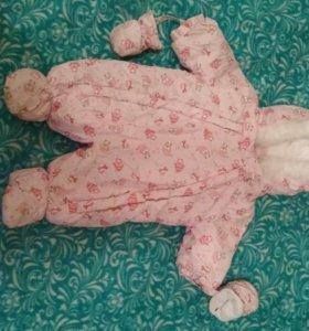 Комбинезон для новорождённого 56см