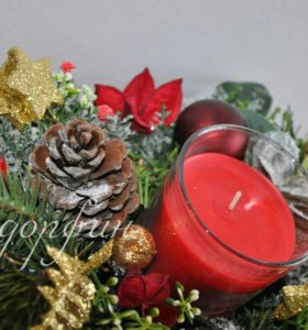 Новогодний подарок,декор,свеча