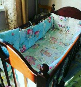 Новые Бортики в детскую кроватку, хэндмэйд