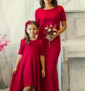 Набор Платьев для мамы и дочки!