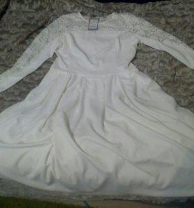 Новое праздничное платье+пояс в подарок