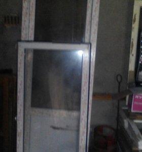 Дверь балконная и окно пластиковые