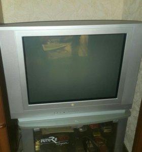 Телевизор Lg 29 дюймов + тумбочка