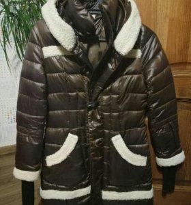 Куртка теплая б/у + сапоги