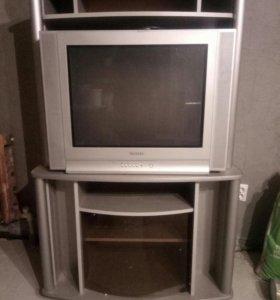 Полка с телевизором