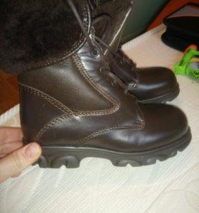 Новые Италия! Зимние ботинки кожа, мех.