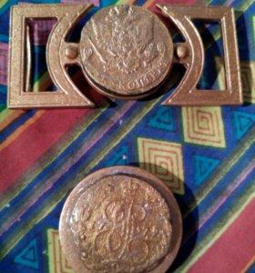 Пряжка с монетой 1779 года