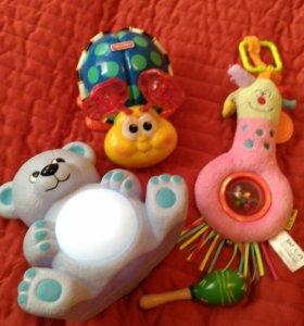Игрушки пакетом Tiny Love, Fisher Price,ночник итд