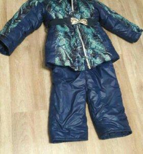 Зимний костюм на девочку 7-8лет