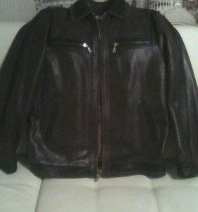 Новая мужская куртка из крэп кожи