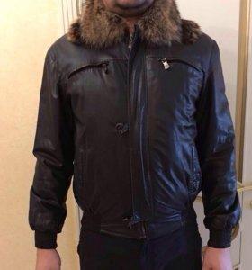 Зимняя куртка мужская натуральная кожа GF Ferre