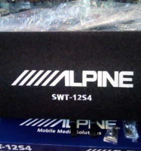 Сабвуфер Alpine swt 12s4, усилитель kicx Ar 1350