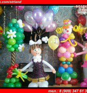 Гелиевые шары Оформление свадеб Фигуры из шаров