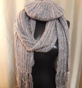 Шапка и шарф женские