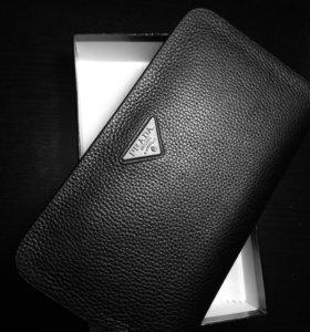Бумажник PRADA кожа
