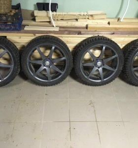 Продам комплект зимних шин Michelin X-Ace и дисков
