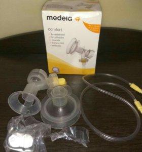Насадка для молокоотсоса Medela+трубочка+мембрана