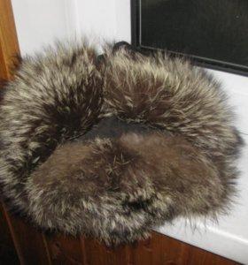 шапка песец зимняя 55 56 р песцовая