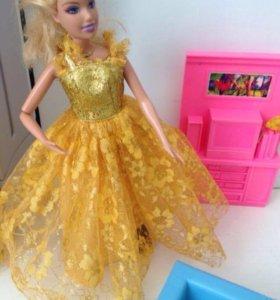 Барби от Mattel (мебель в подарок)