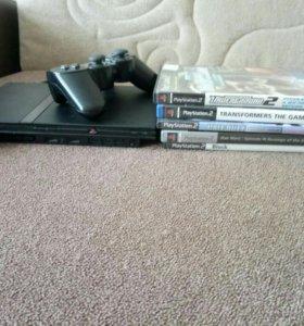 PS2 вместе с играми