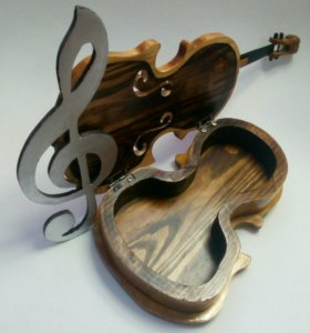 Шкатулка- скрипка