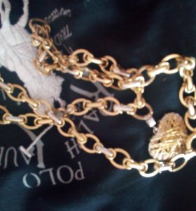 Золотая цепь с кулоном