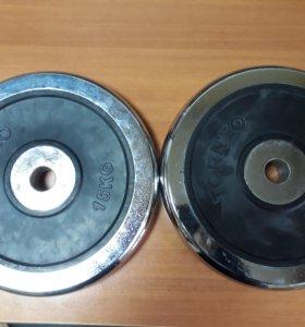 Блины Torneo 15 кг 2000 цена за диск