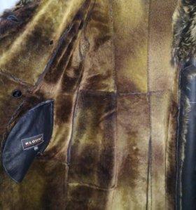 Зимний кожаный плащ