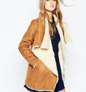Дубленка oversize pull and bear