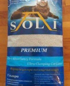 наполнитель А-soli premium комкующийся