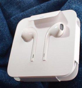 Наушники от iPhone 7 с переходником 3.5