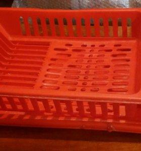 Подставка для посуды с подносом