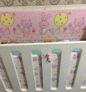 Кроватка детская Принцесса качалка