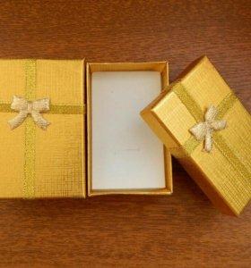 Подарочная коробка. Золотистая.