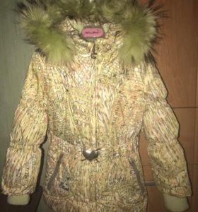 Детский пуховик (куртка) ,зима.