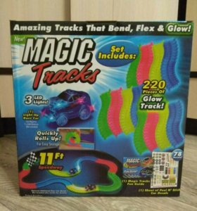 Светящаяся гоночная трасса/трек Magic Tracks 220д