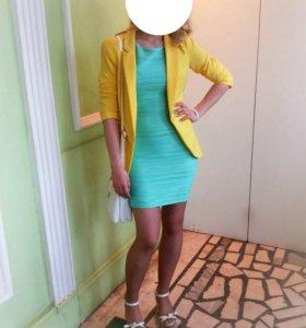 пиджак желтый