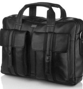 мужская кожаная сумка Hugo Boss Lux ноутбук 15