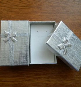 Подарочная коробка. Серебристая.