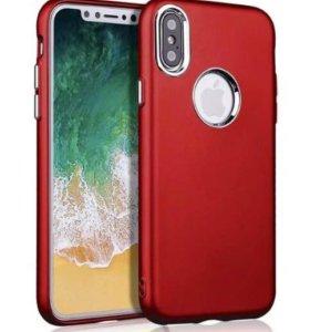 Хромированный Case для iPhone X с вырезом