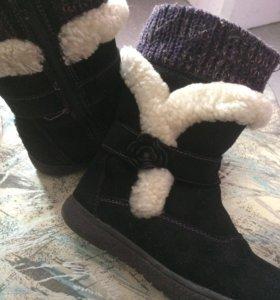 Замшевые ботиночки зимние