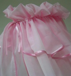 Балдахин нежно-розовый+бант на выписку.