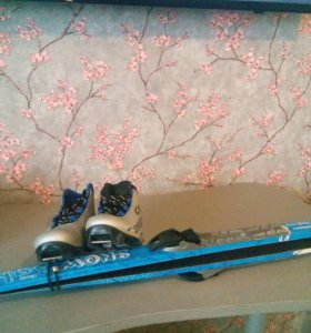 Лыжи и лыжные ботинки